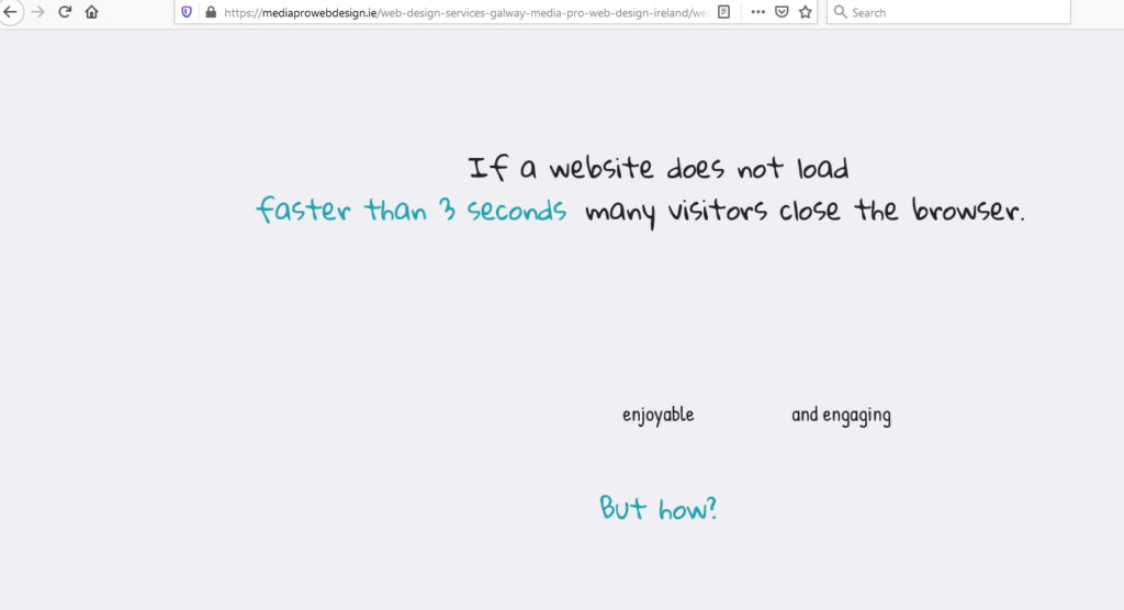 If a website does not load faster than...