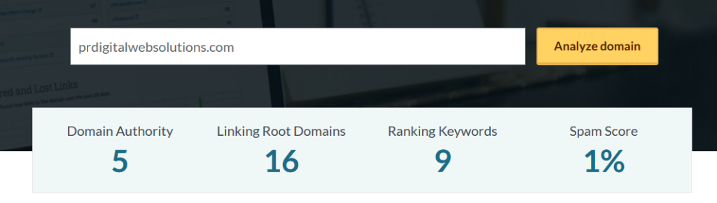 Sloppiest SEO Competition • PR DWS • Domain authority • December 2020 Winner