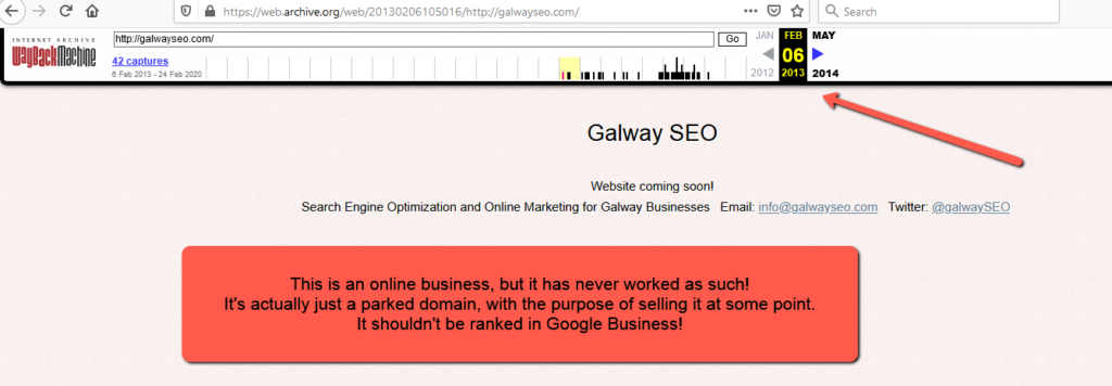 galwayseo.com • 2013-02-06 • Sloppiest SEO Candidate • SEO Smoothie • SEO Agency