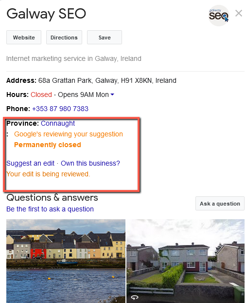 galwayseo.com - report submitted • Sloppiest SEO Candidate • SEO Smoothie • Galway