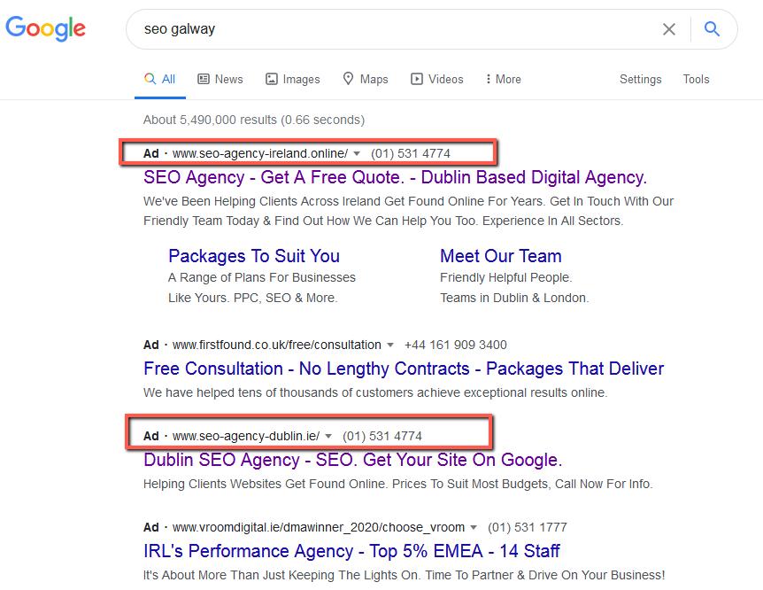 Keyword stuffed domain names • Google Ads • Sloppiest SEO Candidate • SEO Smoothie • SEO Agency