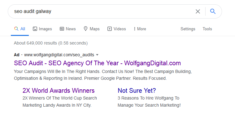 Sloppiest SEO Candidate • Wolfgang Digital • SEO Ads • SEO Smoothie • Galway